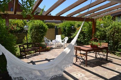 Relax on hammock in the garden of this villa in Basilicata-Southern Italy