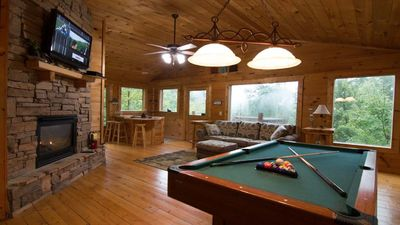 Photo for NEW LIST-- SaveBig $--Rustic/Secluded Tree House MTN VIEW--HTub/Pool Tbl./Arcade