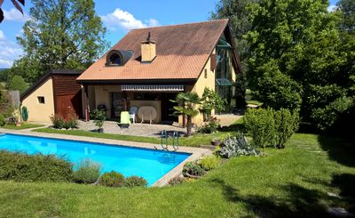 Photo for Bed and Breakfast La Sereine, idyllic location - swimming pool. Region Morges