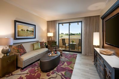 Welcome to your deluxe and gorgeous 1 bedroom suite, featuring warm Tuscan decor.