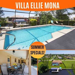 Photo for 26% OFF! SWFL Rentals - Villa Ellie Mona - Pleasant Waterfront Home with Heated Pool