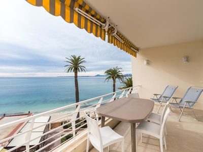 Photo for EDEN BEACH - Wonderful panoramic seaview - 2 rooms with large terrace