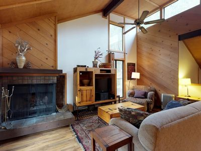 Photo for Dog-friendly condo w/ wood-burning fireplace, deck, shared pool, & hot tub