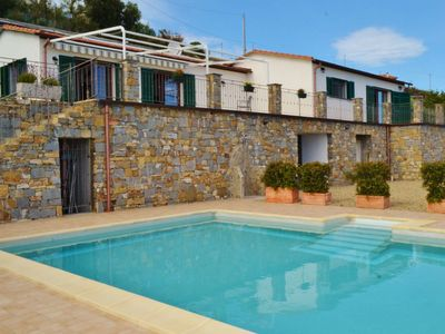 Photo for Villa Nemo, Liguria, perfect sea view and private pool, 5 minutes to the beach