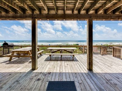 Photo for Large beachfront home. Great for family gatherings and reunions