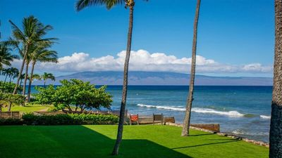 Photo for Oceanfront luxury at it's Best! Sunsets every night and ocean views to Molokai!