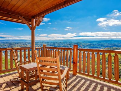 Photo for Free Tickets | 100 Mile View from Almost Every Window. Hot Tub, Pool Table