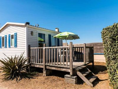 Photo for Camping Edge of Sea *** - Mobil-home 2 Rooms 2 People seen sea