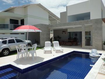 House with pool in gated community in Barra de São Miguel - Alagoas.