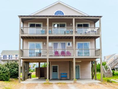 Photo for Kickin' High: Ocean View 4 BR / 2.5 BA house in Topsail Beach, Sleeps 8