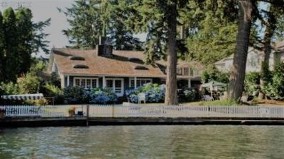 Photo for ORIGINAL 1927 COZY LAKEFRONT BUNGALOW WITH WRAP AROUND PORCH