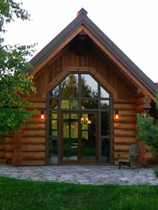Photo for luxurius scandinavian log house in a most private location.