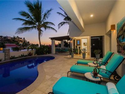Photo for Vibrant Villa w/ocean views, pool & walk to town
