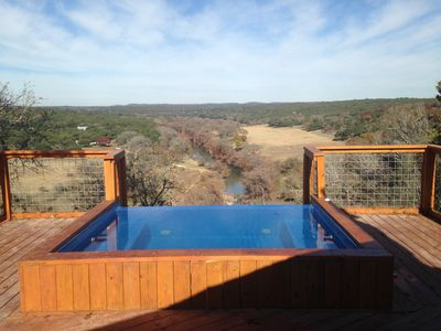 Photo for Hill Country Getaway On Beautiful Ranch Perched On A Cliff Over The Guadalupe R.