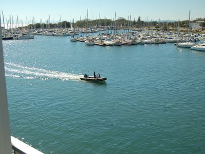 Photo for Cap d'agde T2 1st line, harbor and sea view