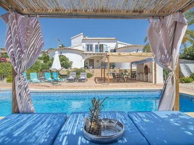 Photo for 3 bedroom Villa, sleeps 7 in Moraira with Pool, Air Con and WiFi