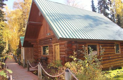 Photo for Kenai River Lodging at its finest!  3BR Cabin Right on the river & close to town