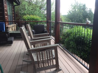 Relaxing on Back Porch