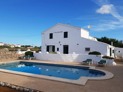 Photo for Country house with pool ideal for families near Mahón