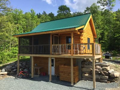 Photo for Log Cabin with Panoramic Views of Cherry Pond and White Mountains