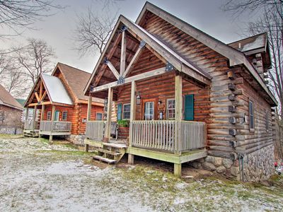 Photo for NEW! Rustic Rothbury Cabin at the Double JJ Resort