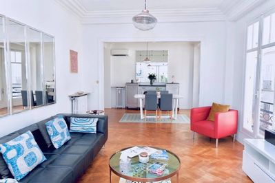 The living and dining area
