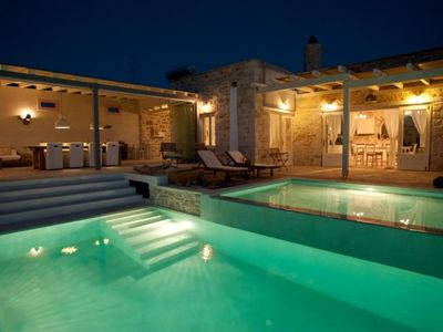 Photo for Luxury-Villa-Sea View-Infinity-Pool-Jacuzzi-8people-Matala-Phaistos-Komos-Beach
