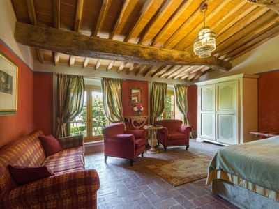 Photo for Dimora dell'Inventore, Luxury BB, Room San Pietro with ensuite bathroom & lakeview