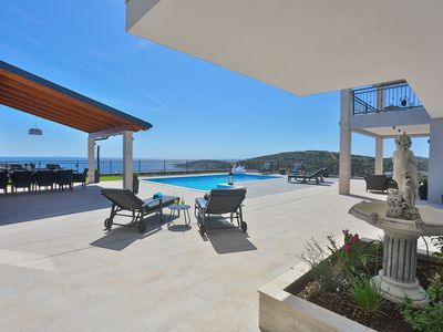 Photo for Luxurious villa with a seaview, heated pool, sauna and lots of amenities