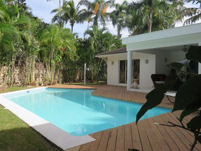 Photo for Spacious VILLA / Pool and Private Garden / 50M Las Ballenas Beach / Wifi