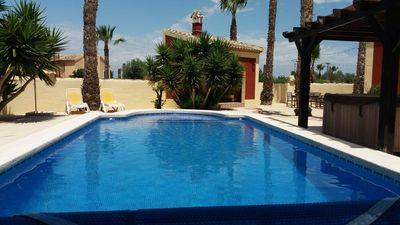 Photo for Large 3 bed villa with private pool, with mountain view in rural location