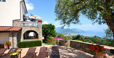 Photo for Villammare, 5 bd, 600 meters from beach, Mediterranean views