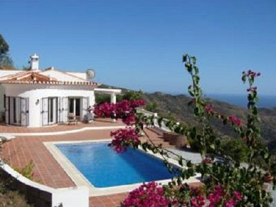 Villa and pool with the Amazing views of the Mediterranean sea