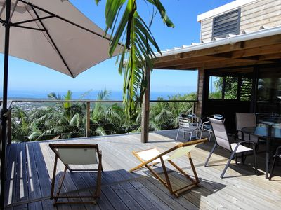 Photo for Grand Lounge of L'Etang-Salé panoramic view between ocean and mountains