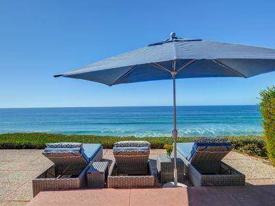 Photo for Listen to the waves from this oceanfront home with a private hot tub!