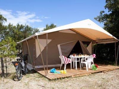 Photo for Camping Aurilandes *** - Tent Ecolodge 3 Rooms 5 People