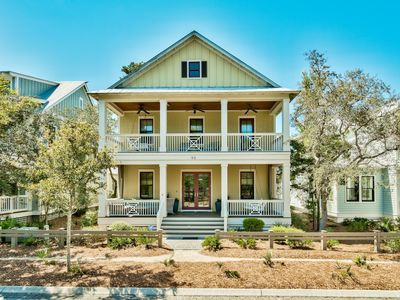Photo for Executive Access Home! 1 Block from Pool! Firepit. Gas Grill. Carriage House