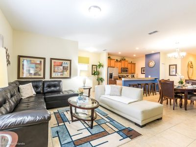 Photo for Luxury on a budget - Paradise Palms Resort - Welcome To Contemporary 5 Beds 5 Baths Townhome - 4 Miles To Disney