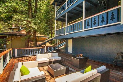 Our deck offers plenty of privacy in the mountains.