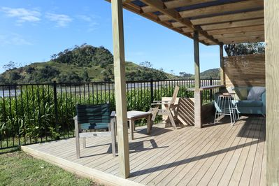 Enjoy your own private deck and bar overlooking the estuary.