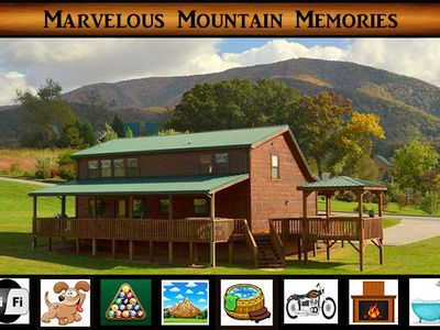 Photo for Marvelous Mountain Memories - Motorcycle Friendly \ Pool Table \ Hot Tub \ WiFi