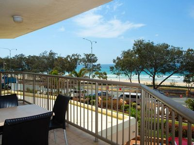 Photo for Oceanfront Apt - across the road from the beach!