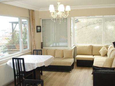 Photo for Spacious Bosphorus VI apartment in Ortaköy with WiFi & integrated air conditioning.