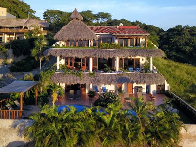 Photo for Quality Hilltop Home. Endless Ocean, Mountain, Jungle Views.  Private Pool.