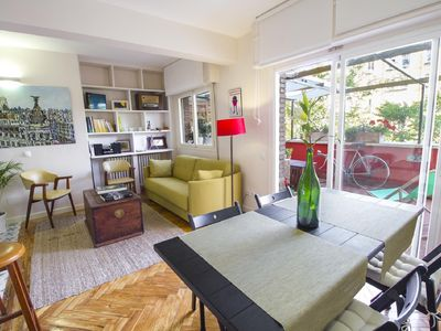 Photo for BEAUTIFUL APARTMENT WITH SUNNY TERRACE AND GARAGE NEAR. TOGETHER WITH QUEEN SOFÍA, PRADO ..