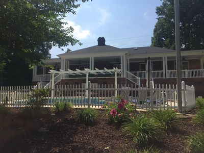 Photo for RARE LAKEFRONT 1 LEVEL LUXURY! 4 KING SUITES & POOL,8HUGE SMART TVS, WIFI=RELAX!