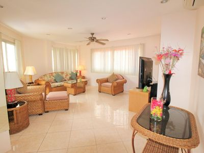 Photo for LARGE APT. 2 BED POOL VIEW WALK TO BEACH