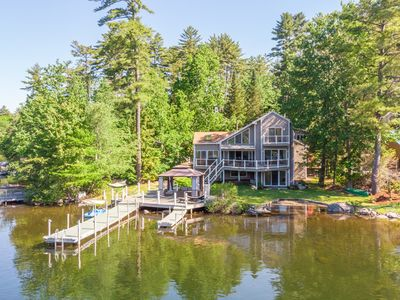 Photo for Contemporary waterfront home located in Ash Cove w/stunning views, 40' boat dock, gazebo &