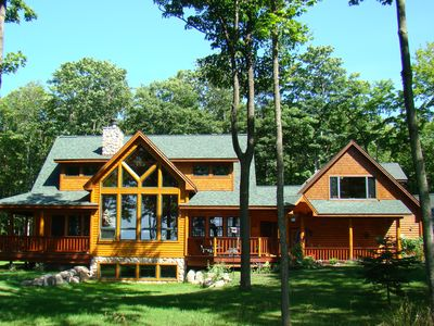 Photo for Lakeview Loft - Dream Chaser Retreat - Lake Michigan View, Beautiful Log Home