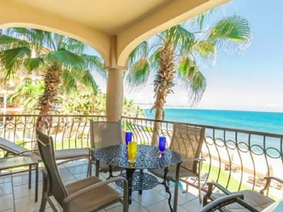 Photo for Waves For Days Beach Front Condo! Panoramic Surf Views!